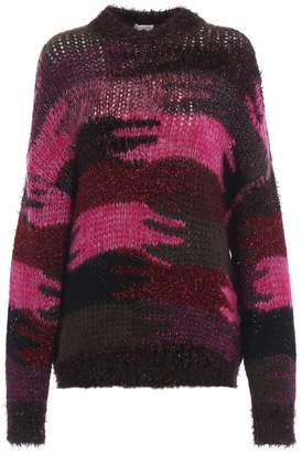 Saint Laurent Camouflage Jacquard Sweater