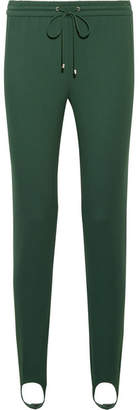 Theory Stretch-ponte Track Pants - Dark green