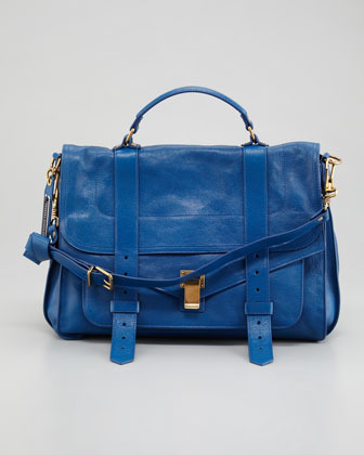 Proenza Schouler PS1 Large Leather Mailbag, Peacock