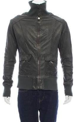 Giorgio Brato Distressed Leather Jacket w/ Tags