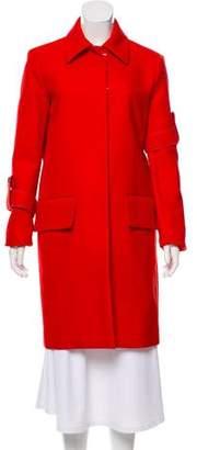 Celine Red Knee-Length Coat w/ Tags