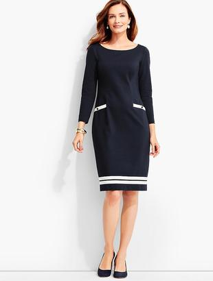 Ribbon-Trimmed Ponte Sheath Dress $129 thestylecure.com