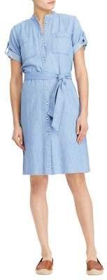 Lauren Ralph Lauren Petite Short-Sleeve Denim Shirtdress