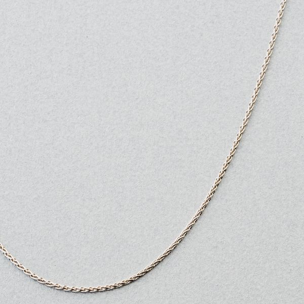 14k White Gold Wheat Chain Necklace