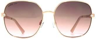 92ef96e0bb Lipsy Oversized Glam Rose Gold Metal Sunglasses