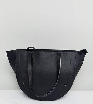 74c5fc7e98f9 Accessorize structured winged tote bag in black