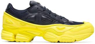 Adidas By Raf Simons yellow and navy Ozweego leather sneakers