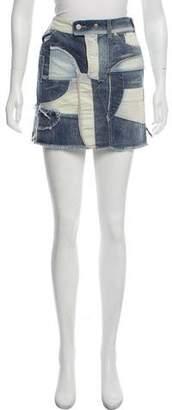 Isabel Marant Denim & Corduroy Mini Skirt w/ Tags