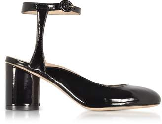 Stuart Weitzman Shape Black Patent Leather Heel Pumps