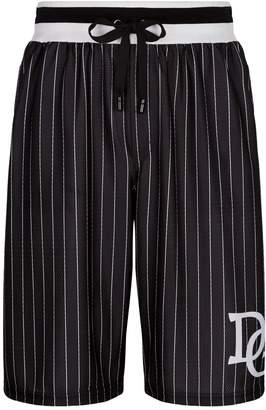 Dolce & Gabbana Baseball Stripe Bermuda Shorts