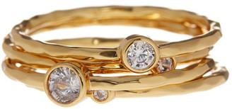 Gorjana CZ Shimmer Stacking Ring Set - 4-Piece Set - Size 6 $67.50 thestylecure.com