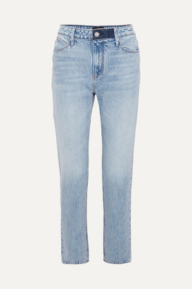 RtA Luke Distressed High-rise Straight-leg Jeans - Light blue