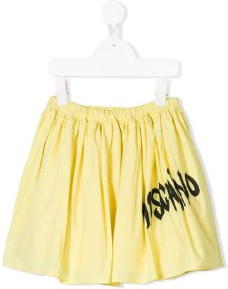 Moschino Kids spray paint logo print skirt