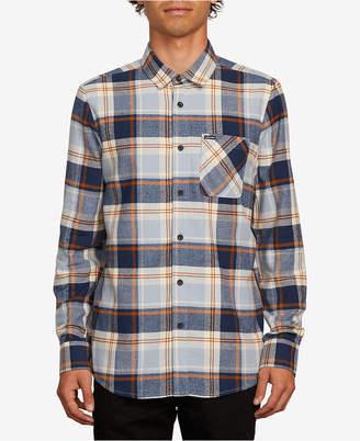 Volcom Mens Caden Plaid Long-Sleeve Shirt