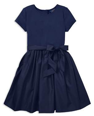 Ralph Lauren Girls' Taffeta Shirt Dress with Sash - Big Kid