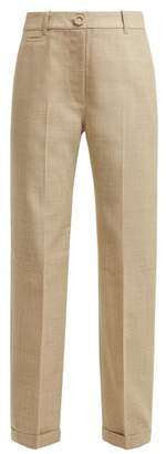 Jacquemus Le Pantalon Carino High Rise Cotton Trousers - Womens - Beige