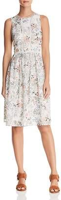 Aqua Botanical Swiss Dot Midi Dress - 100% Exclusive