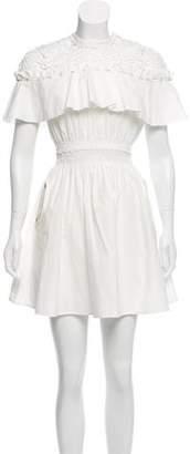 Self-Portrait Pleated Mini Dress