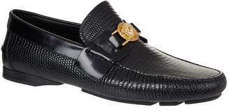 Versace Leather Medusa Head Loafers