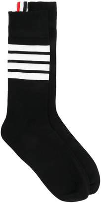 Thom Browne 4-Bar Mid-Calf Cotton Socks
