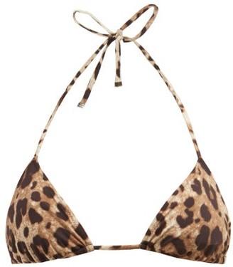 Dolce & Gabbana Leopard Print Triangle Bikini Top - Womens - Leopard