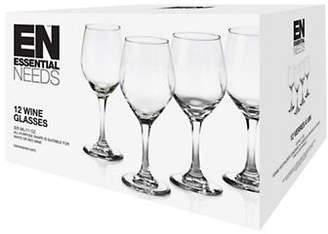 Essential Needs 12-Piece Wine Glass Set