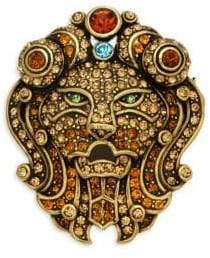 Heidi Daus Lion Swarovski Crystal Pin