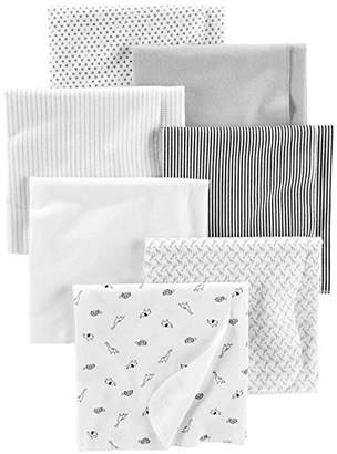 Carter's Simple Joys by Baby Unisex 7-Pack Flannel Receiving Blankets