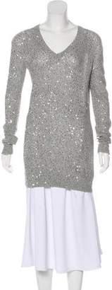 Stella McCartney Sequin-Embellished V-Neck Sweater