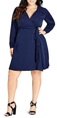 City Chic Plus Mia Wrap Dress
