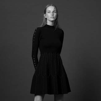 Sandro Short knit dress with high neck