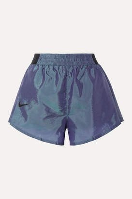 Nike Tempo Lux Pleated Dri-fit Shell Shorts - Storm blue