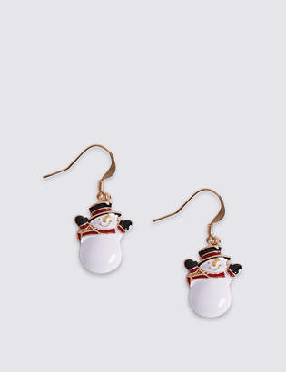 Marks and Spencer Snowman Drop Earrings