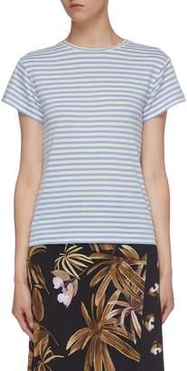 Vince Silk blend stripe T-shirt