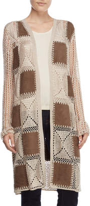 Chelsea & Theodore Open Crochet Patchy Duster