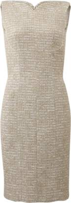 Oscar de la Renta Metallic Boucle Tweed Dress