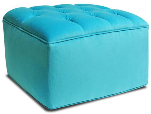Tufted Ottoman in Choice of Fabric