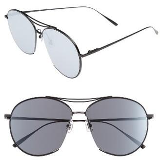 Women's Gentle Monster Jumping Jack 60Mm Sunglasses - Matte Black Mirror $320 thestylecure.com