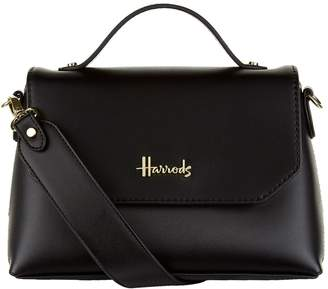 Harrods Violet Top Handle Bag