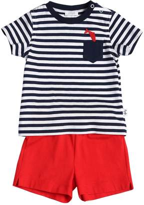 Il Gufo Striped Cotton Jersey T-Shirt & Shorts
