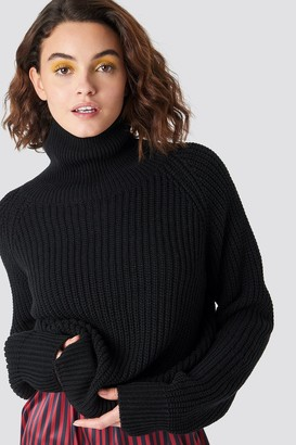 Emilie Briting X Na Kd Structured High Neck Polo Knit
