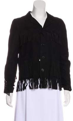 Saint Laurent Suede Fringe Jacket w/ Tags