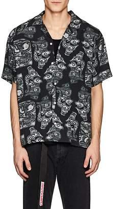 Saturdays NYC Men's Canty Dragon-Print Linen Camp Shirt