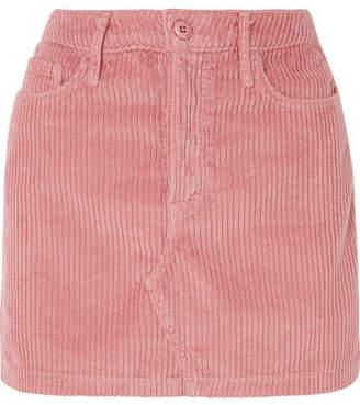 GRLFRND Zamira Cotton-blend Corduroy Mini Skirt - Pink
