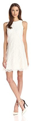 Kensie Women's Scalloped Floral-Lace Dress $109 thestylecure.com