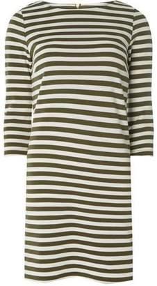 Dorothy Perkins Womens **Vila Khaki and White Striped Jersey Dress