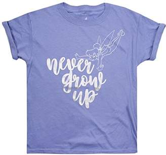 Disney Girl's Tinkerbell Never Grow up T-Shirt