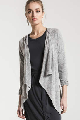 Z Supply Zsupply Grey Waterfall Cardigan