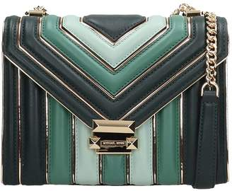 Michael Kors Green Quilted Leather Lg Bag