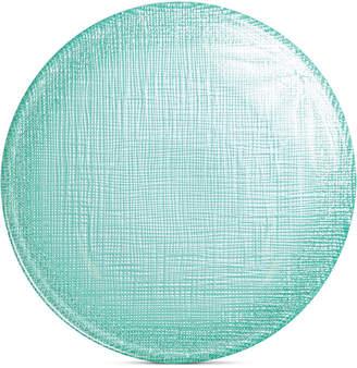 Vietri Glitter Glass Aqua Canape Plate